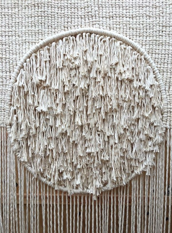 Detail of untitled macrame by Sally England - exhibited at the Grand Rapids Art Museum 2016
