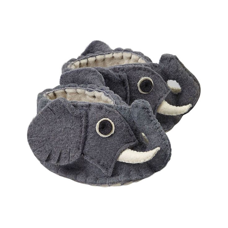 Fair Trade Elephant Felt Zooties Baby Booties handmade by artisans in Kyrgyzstan available at Alternatives Global Marketplace