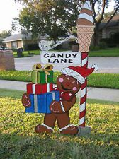 Christmass - Candy Cane Lane Ginger Bread Man - Yard Art Decorations
