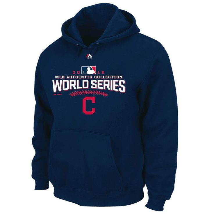Cleveland Indians Majestic 2016 World Series Bound Big & Tall Pullover Hoodie - Navy