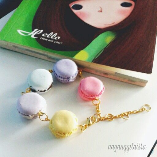 pastel macaron bracelets! so beautiful