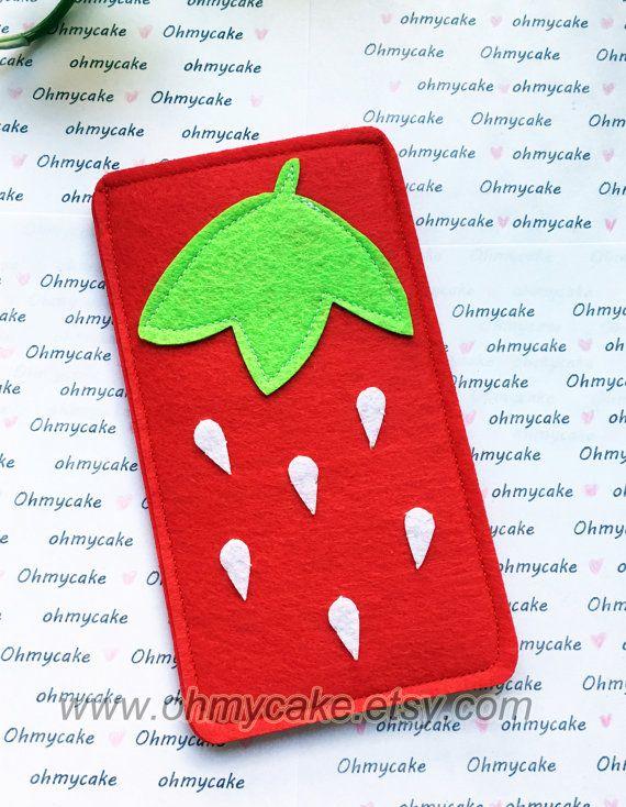 Custom Size Felt iPhone Case Cell Phone Sleeve Felt by ohmycake