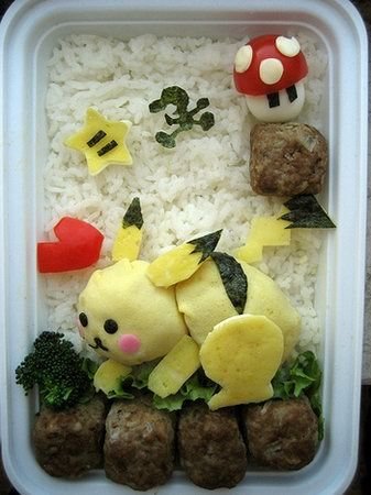 Pikachu!: Tasty Recipe, Super Smash, Red S Bento, Food, Smash Bros, 15 :