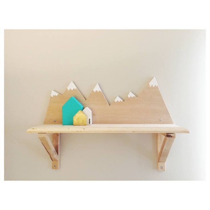 Mountain shelf for nursery  mountain theme baby boy