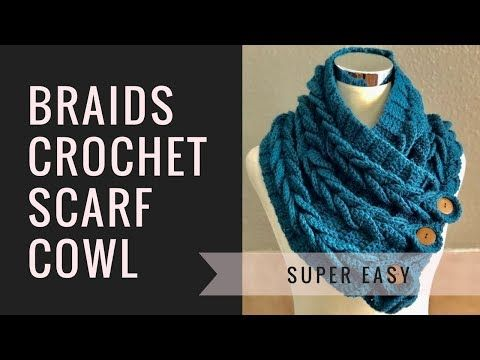 CrochetPatterns CrochetPatterns Braids Crochet Scarf Tutorial is one of the rarest free video tutorials available on the internet market. We share this step by step guided video tutorial absolutely free for our users. Materials Required: 2 Skeins of Worsted Weight Yarn #4, 350 yds ea. Crochet Hook 5 mm 4 Large buttons Tapestry Needle Matching …
