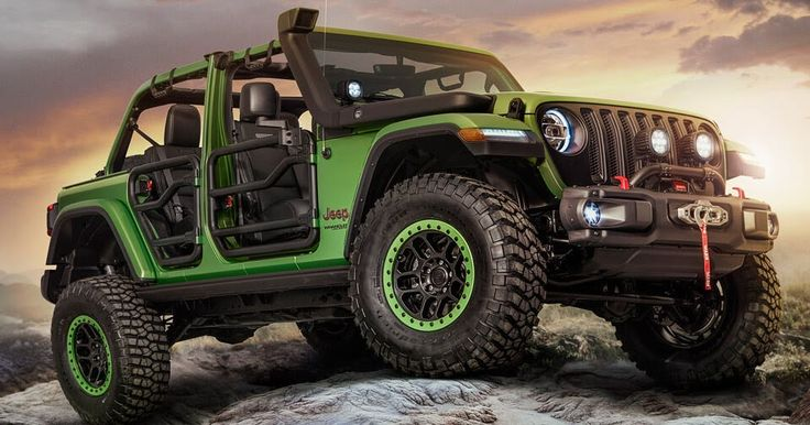 New Wranglers Show Off Mopar Jeep Performance Parts #Jeep #Jeep_Wrangler
