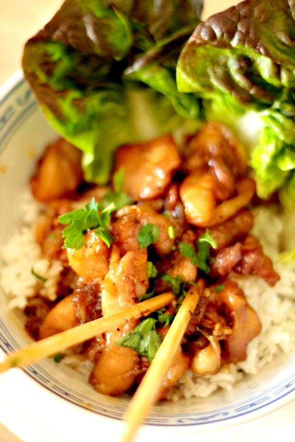 Poulet au caramel & à la citronnelle (plat vietnamien rapide et facile)