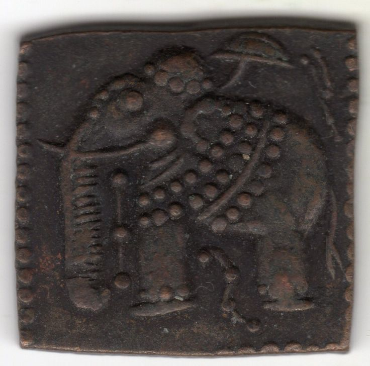 """Item specifics   Seller Notes: """"UNIQUE ANCIENT SQUARE COPPER COIN FROM PERSIAN WARS. PERSIAN KING DARIUS III & ALEXANDER THE GREAT. SOUTHEASTERN ASIA CAMPAIGN. c.300+ BC (SEE MAP IN PICTURES) ARMORED WAR ELEPHANT. SPIKES ON TRUNK CAN STILL BE SEEN. ELEPHANT HAS ARMOR, LINE WITH..."""