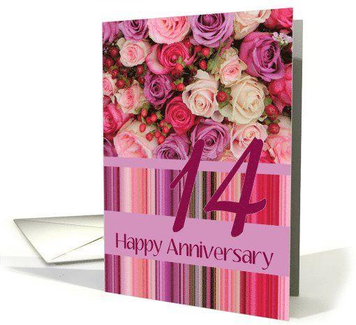 happy 14th anniversary card