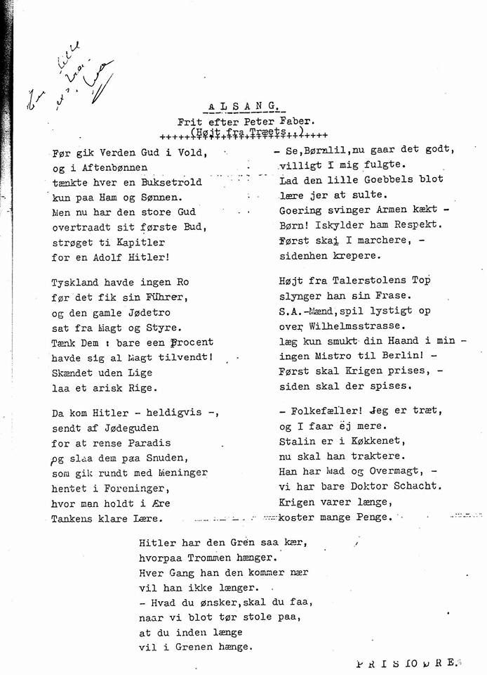 A Danish song mocking the Nazis