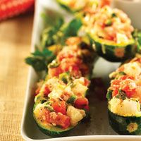 Grilled Stuffed Zucchini Boats will melt in your mouth…and they look cool too.