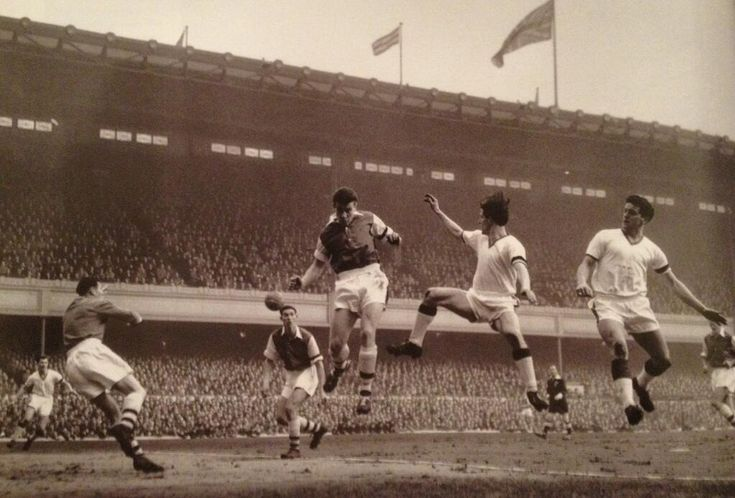 The Busby Babes play their last ever game on English soil...at Highbury a few days before the Munich air disaster.