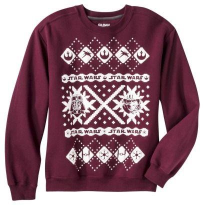 Wow! Not sure the hubbs would wear this but I would! Star Wars Christmas Fleece Sweatshirt - Dark Maroon