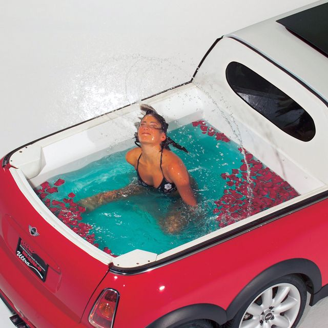 Because you can: Mini Coopers, Cars, Vehicle, Stretch Limo, Minis, Hot Tubs, Pools