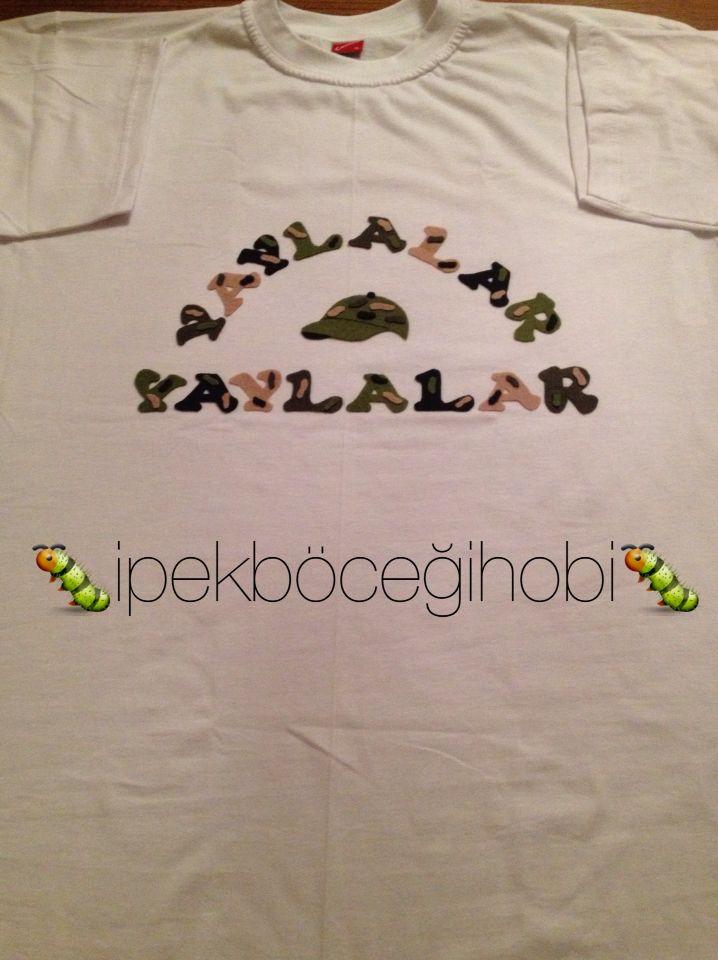 Asker uğurlama eğlencesi için tasarım t-shirt