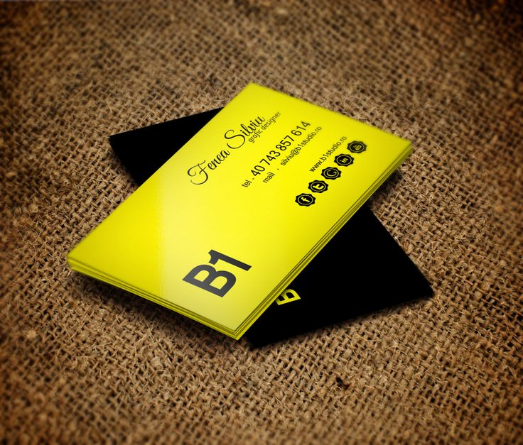Visit Card / B1 Studio @ Fenea Silviu - back view