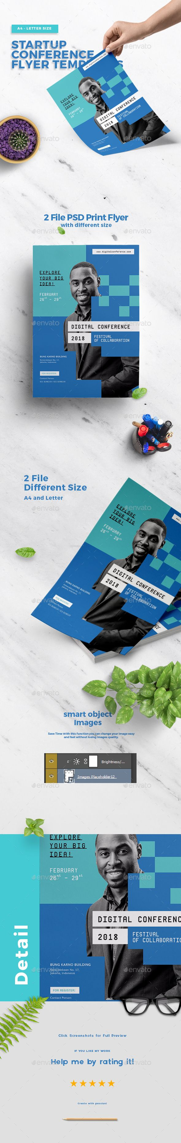 Startup Conference Multipurpose Brand (Print and Social Media) Template PSD