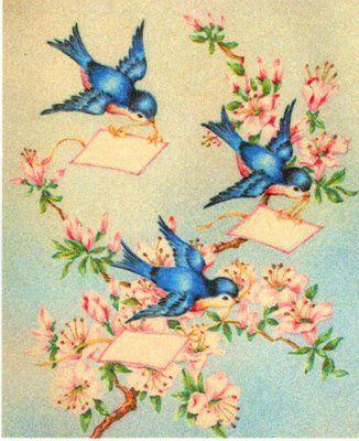 Three Little Bluebirds Winging Your Way!