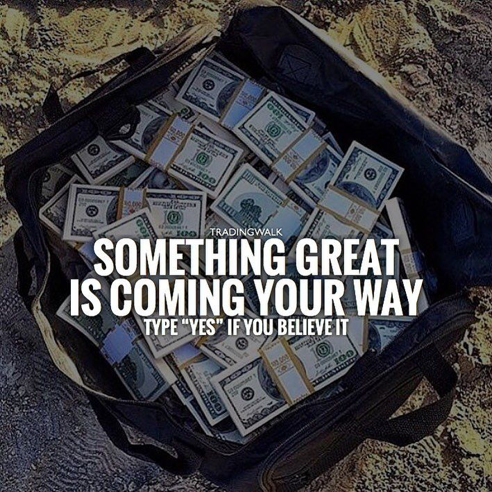 Something great is coming your way... if you trade ;) Learn to trade forex with our price action trading strategy for winning signals. Perfect for beginners, scalping, swing trading, day trading no need for indicators. Check out our Instagram for more trading quotes!