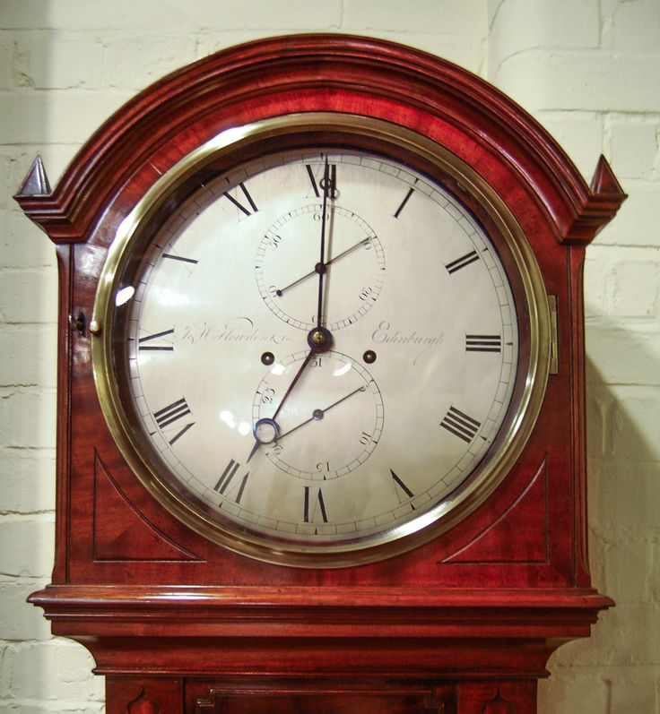 Scottish Regency Period Mahogany Long Case Semi Regulator Clock with  Silvered Dial by J W Howden   Co  Edinburgh. 7 best images about Antique Clocks on Pinterest   English  Bristol
