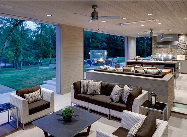 307 best outdoors images on pinterest for Outdoor living room ideas