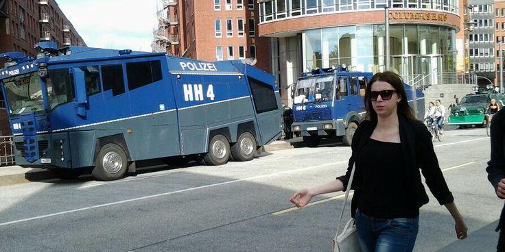 I was intimidated. Locals not.  Hamburg. Germany.