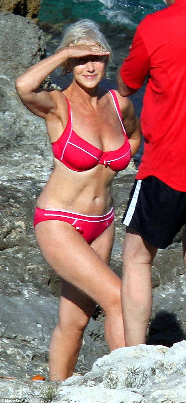 Bikini ban: Dame Helen Mirren caused shockwaves in 2008 when images surfaced of her incredible bikini body on an Italian beach and when business opportunities arose she reportedly refused them all as she was 'not interested' in profiting from the now-famous shot