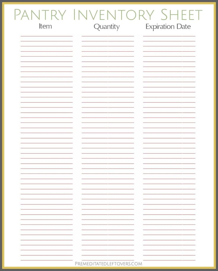 Inventory Format Free Printable Pantry Inventory Sheet, Stock Take - inventory format