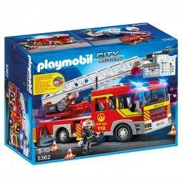 Camion de pompier avec échelle et sirène Playmobil City Action - 5362