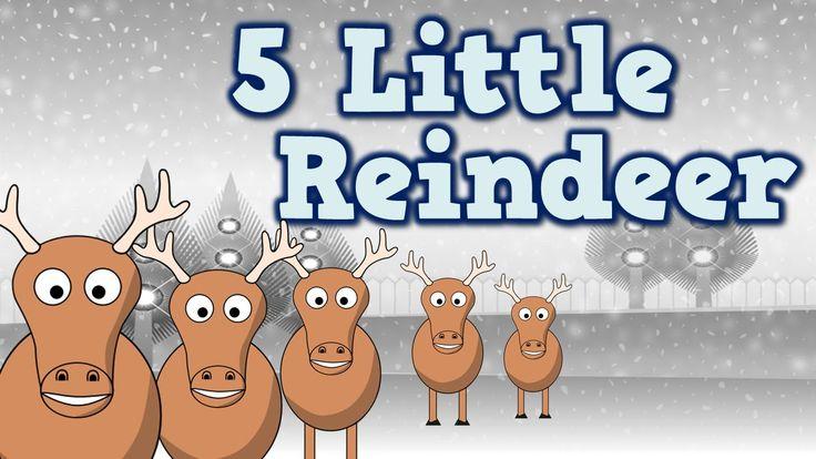 5 Little Reindeer (December-themed song for kids)