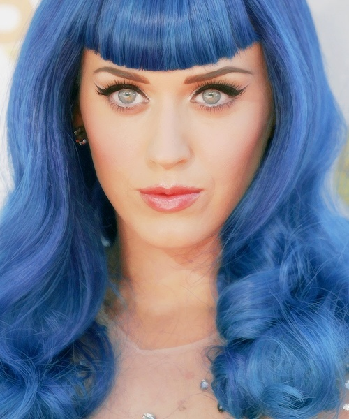 Katy Perry blue hair i love it❤️