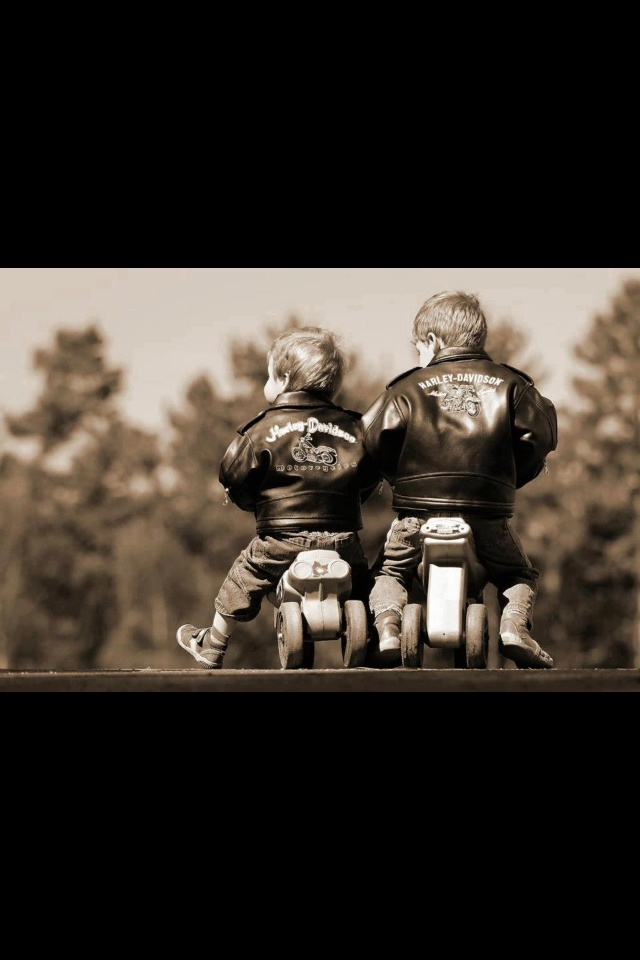 Reminds me of my brother and his friend who rode to the corner store on their riding toys when they were 3 years old.