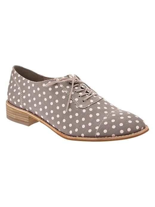 Printed canvas oxfords Product Image