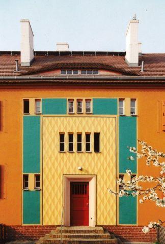 Gartenstadtweg 29, Hauseingang Foto © Winfried Brenne Architekten