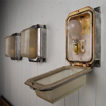 reclaimed industrial lighting. reclaimed bulkhead wall lights vintage industrial lighting original house e