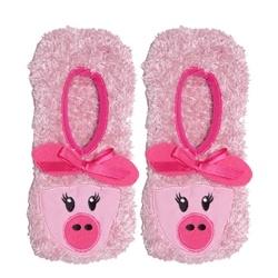 Pink Piggy Slipper Non Skid Socks for Hospital