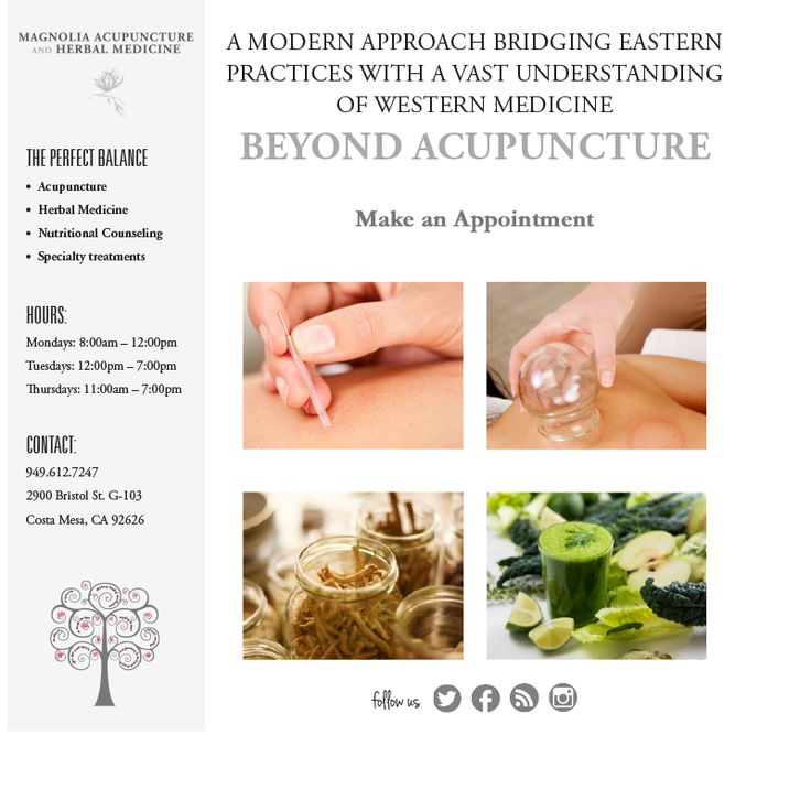 Acupuncture treatment for infertility has been used since ages with dating 2000 years or more. This process involves removing any stress, anxiety and anything else which can significantly decrease fertility. Contact Magnolia Acupuncture and Herbal Medicine based in orange county, CA to overcome all your infertility issues from their certified specialists today.