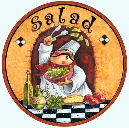 Salad with a flourish!