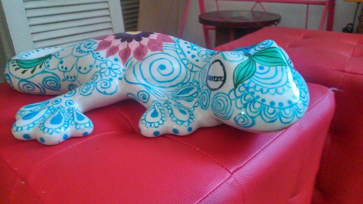 Iguana lista para ir al jardín