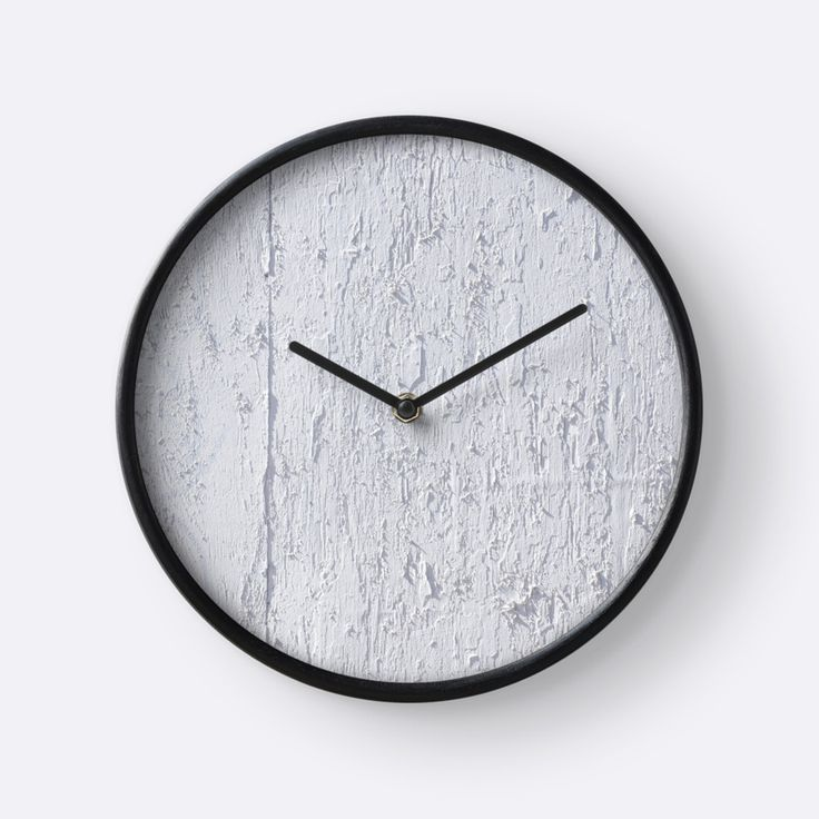 White Plywood Textured clock by Galerie 503