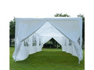 Pinned walls of White Canopy Tent make it look elegant