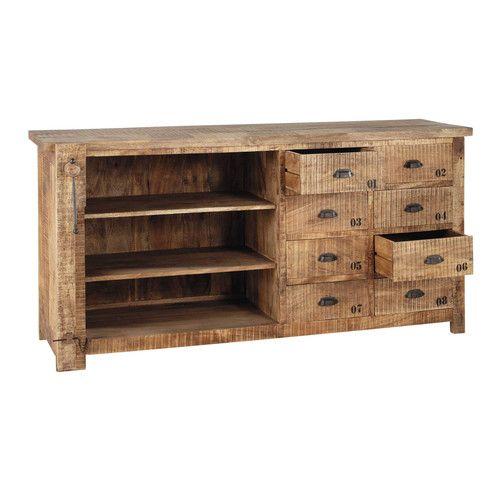 Les 57 meilleures images propos de accessoires d co meubles sur pinterest industriel for Meuble en manguier massif