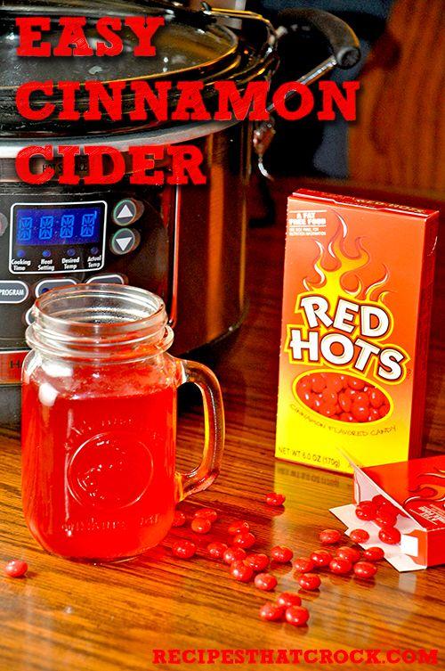 Easy Cinnamon Cider #CrockPot #SlowCooker