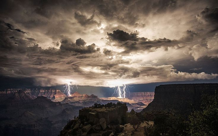 An INCREDIBLE long exposure photo taken by Rolf Maeder from Moran Point on the South Rim of the Grand Canyon