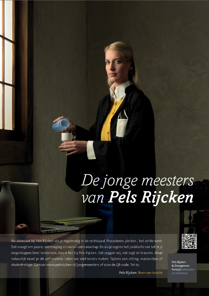 New campagin for an old Dutch law firm to recruit young talent.
