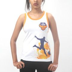 FC Goa- Vest Women  #Goa #TheFanStore #ISL #India #football #sports #Tshirt #gaon #Goa #IndianFootball #Beach #goaBeach #goaFans #womenWear #WomenFootball #vest #white #orange