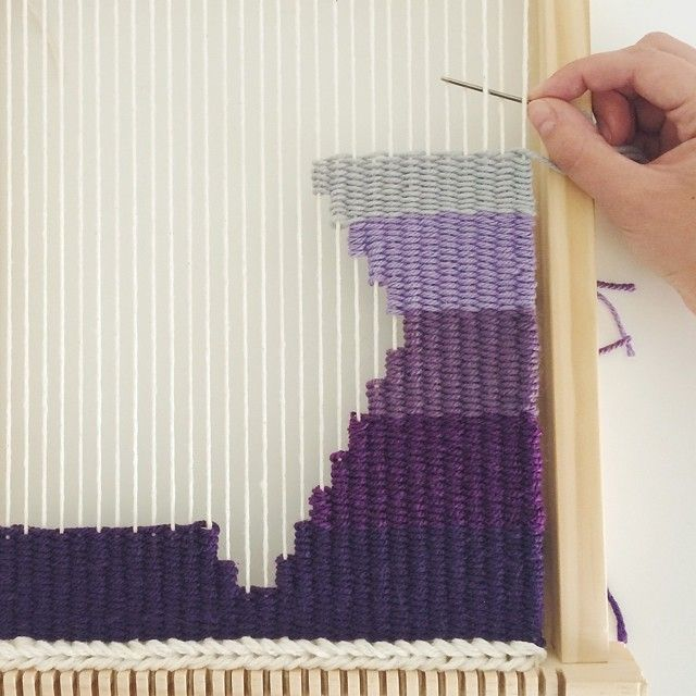 Hand-woven tapestries by Melissa Washin