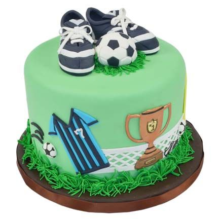 Soccer Cake - i could trace a net like that using royal icing on wax paper, then lay it on the side of a cake pan to set