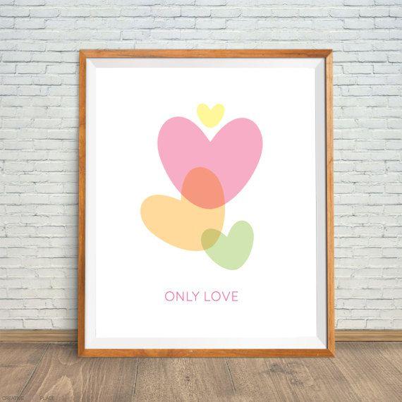 Printable heart poster heart digital print by CreativePrintsPlace