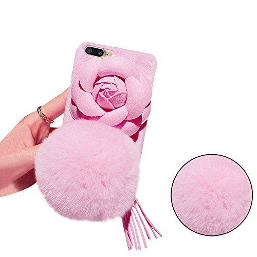 coque iphone 8 plus avec pompon